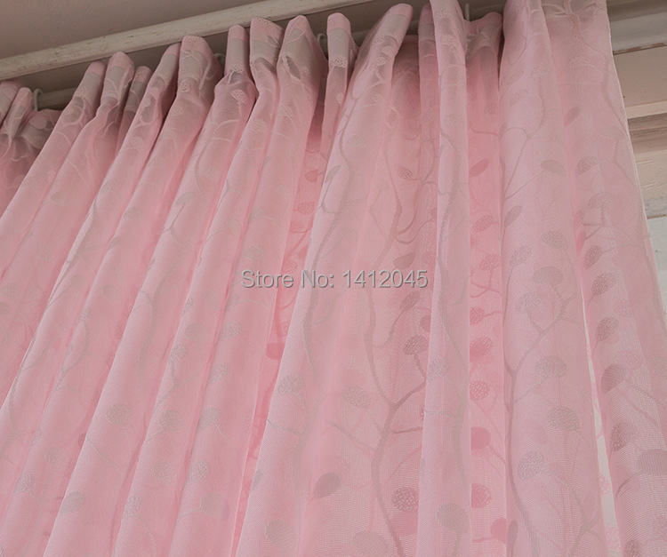 new high quality pink modern window curtains tulle curtains for ...
