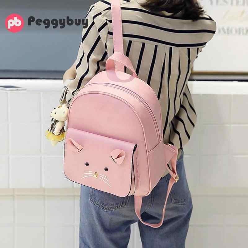 3 шт./компл. милый мультфильм маленький Для женщин рюкзаки Мышь рюкзак школьные сумки для девочки-подростка из искусственной кожи Для женщин плеча мешок карточки комплект
