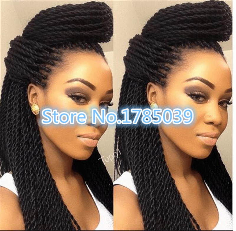2016 Hot New Products havana mambo twist crochet braids hair senegalese twist synthetic box ...