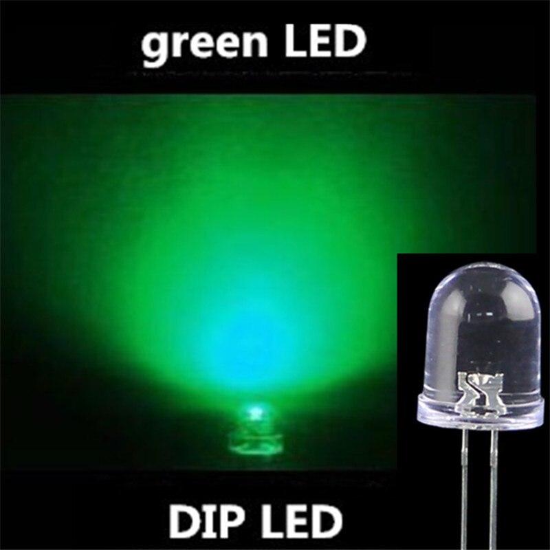 1000 шт. ультра яркий светодиодный 10 мм зеленый синий светодиоды супер яркий синий 11000-12000 <font><b>mcd</b></font> 510-525nm высокое качество