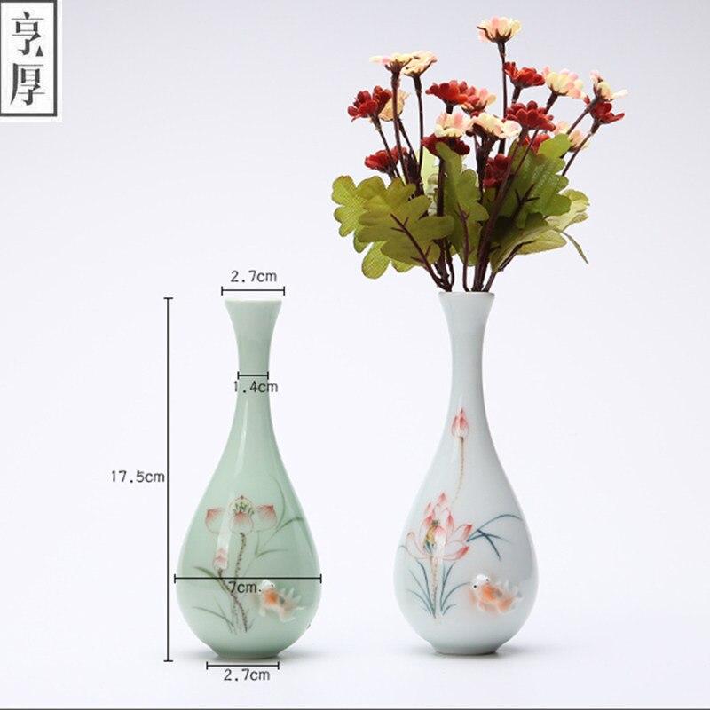 Perfect 2018 Vintage Home Decoration Vases Antique Ceramic Flower Vase Pot China  Hand Painted Chinese Porcelain Vase Flower Receptacle  In Vases From Home U0026  Garden ...