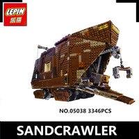 IN STOCK LePin 05038 3346Pcs Star Wars Force Awakens Sandcrawler Model Building Kit Blocks Brick Compatible
