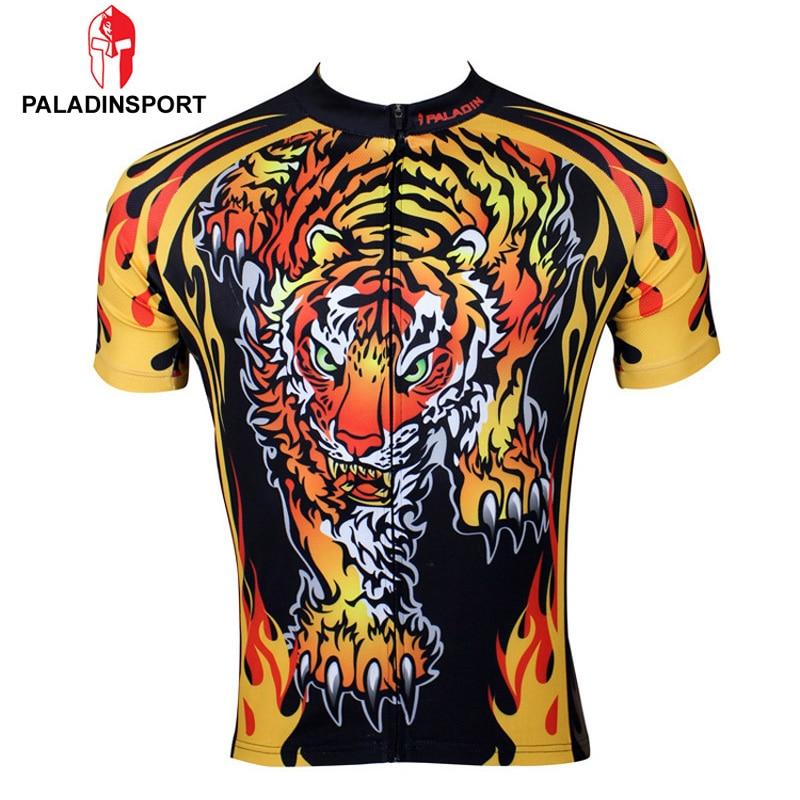 Prix pour Paladin hommes manches courtes drôle cyclisme Jersey tigre vélo Jersey vêtements vélo chemise male Sportswear Ropa Ciclismo # 109