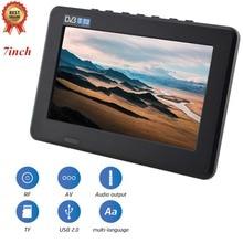 LEADSTAR 7 pouces Led Portable Portable TV télévision DVB-T DVB-T2 16:9 couleur écran TFT numérique analogique TV 800x480 résolution