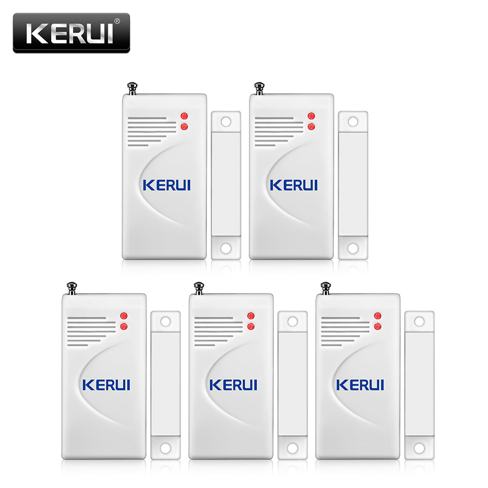 KERUI Hot Sale Extra Door&window Magnetic Sensor Detector For Wireless PSTN GSM Security Home Alarm System 433MHz With Battery