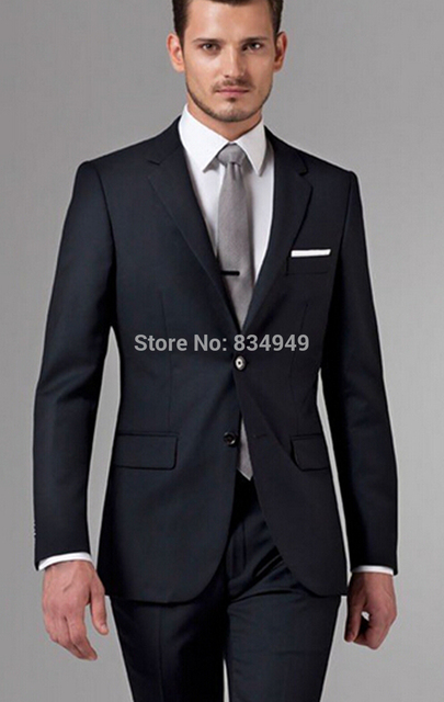 05b894a202 Custom Made Brand Business Suit Men Luxury Mens Formal Dress Set Black Mens  Suits Wedding Groom High Quality