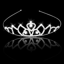 AASS Wedding Bridal Headband Flower Girl Hair Jewelry Rhinestone Crown Tiara