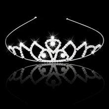 AASS Wedding Bridal Headband Flower Girl Hair Jewelry Rhinestone Crown Tiara