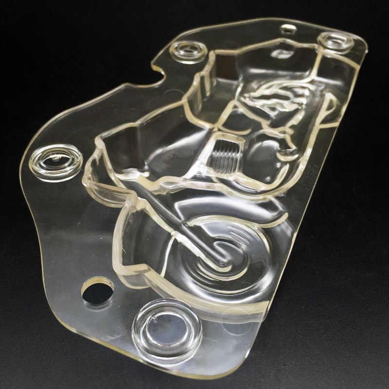 3D пластик мотоцикл форма для шоколада Сделай Сам ручной работы торт Поликарбонат Autobike шоколад инструмент украшения торта инструменты формы