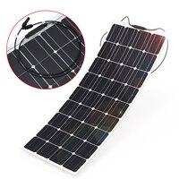 100 Вт 18 В полу гибкие Панели солнечные решетки 23.5% эффективность супер тонкий Дизайн безопасности для дома на колесах Лодка моно кремния Вод