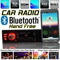 חדש סטריאו לרכב רדיו טלפון bluetooth תמיכת נגן mp3 aux-in fm / usb / 1 din / שלט רחוק עבור 12 v / 24 v אודיו לרכב אוטומטי מכשירי רדיו