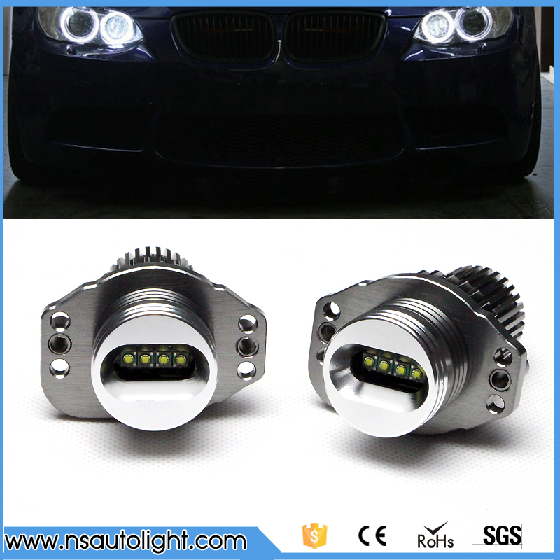 Ultra Bright 6500K White Cree Chip LED Marker 40W Angel Eye Halo Ring Bulb For BMW E90 E91 3 Series 325i 328i 335i 2006-2008 2pcs angel eyes car auto white led light for bmw e90 e91 3 series 325i 328i 325xi 328xi 330i 06 08 excellent quality angel eyes