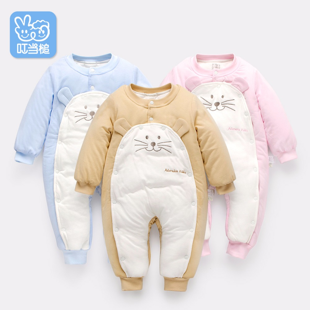 Dinstry  Boys  Girls Warm Clothes autumn/winter thicken cotton padded coat Children Outerwear Baby Jumpsuit 2017 winter children cotton padded parkas clothes baby girls