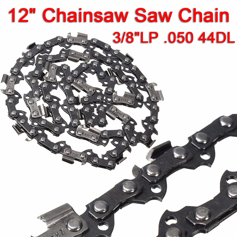 12 Meatal Chainsaw Saw Chain Blade 3/8LP .050 44DL Sharp Blade Quickly Cut Wood Easy Maintenance 16 size chainsaw chains 3 8 063 1 6mm 60drive link quickly cut wood for stihl 039