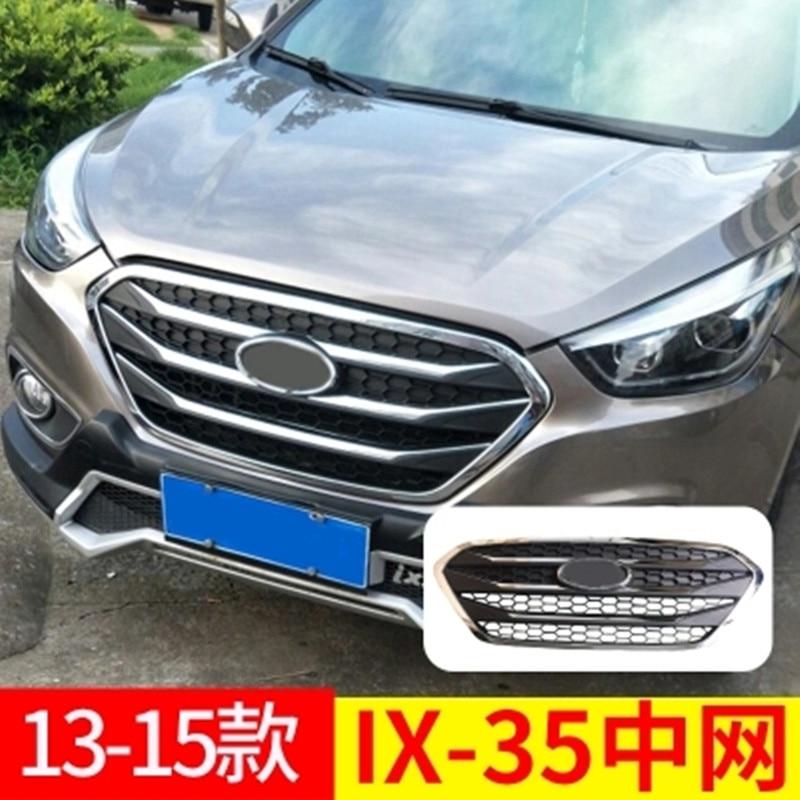 Pour Hyundai ix35 2013-2015 haute qualité ABS chrome calandre rechargée autour des garnitures de garniture grilles Racing.