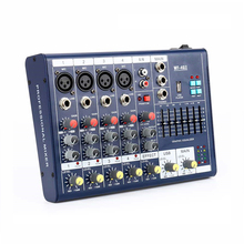 Finlemho DJ Mixer Audio USB Console 6 Way Professional For Stage Power Amplifier Subwoofer Speaker Line Array 48V Phantom