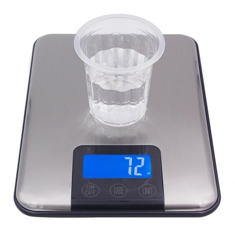 Pantalla táctil 15 kg 15000G 1g Delgado Acero inoxidable Lcd Digital de Cocina Comida dieta Postal escala del peso de Balance