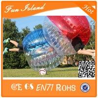 Бесплатная доставка Красочный 1.2 м ТПУ надувной пузырь Футбол zorb Игрушечные лошадки, надувные спортивные игры пузырь Футбол, ума невменяемы