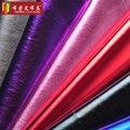 Filme pu101 couro de grão de couro artificial tecido diy handmade material de roupas à prova d' água decorativos interior fina