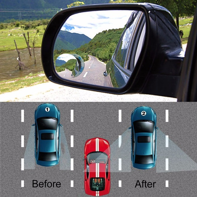 Car 360 Wide Angle Round Convex Mirror Car Vehicle Side Blindspot Blind Spot Mirror Wide Rear View Mirror Small Round Mirror