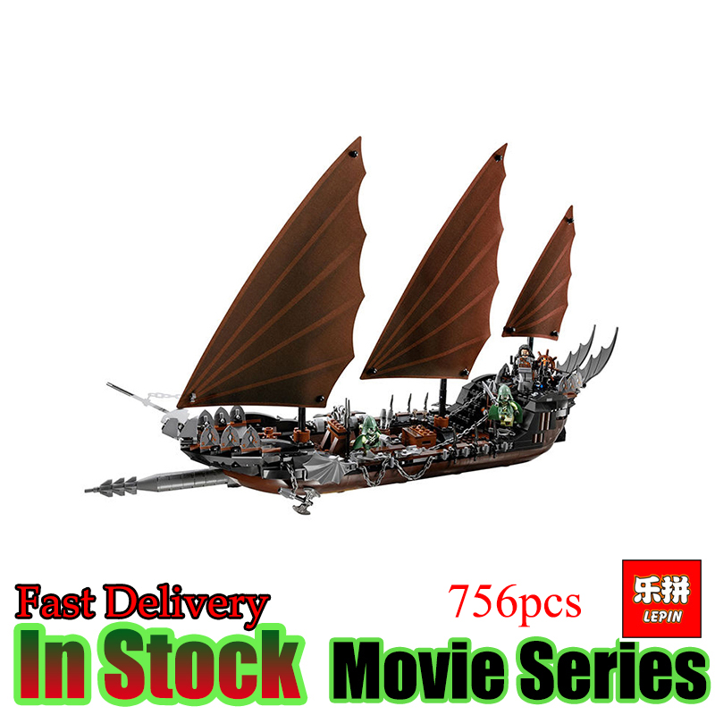 Lepin 16018 Genuine The lord of rings Series The Ghost Pirate Ship Set Building Block Brick Funny Toys 79008 lepin movie series ghost pirate ship 16018 756pcs building block for children toys 79008 compatible legoe pirate ship