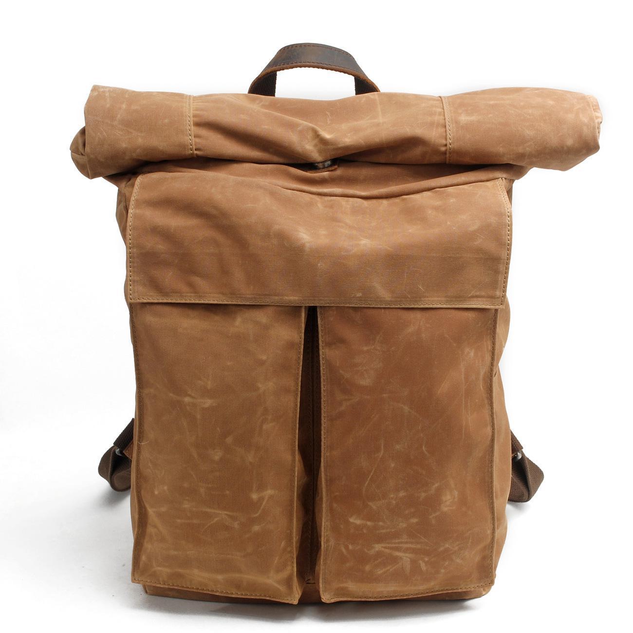 New Vintage Large Crazy Horse Leather + Canvas Backpack for Men Teenagers School Back Pack Women Laptop Bagpack Travel Bags 2016 tcttt korean ladies back pack vintage men women casual shoulder bag laptop knapsacks school bags for teenagers tactical backpack