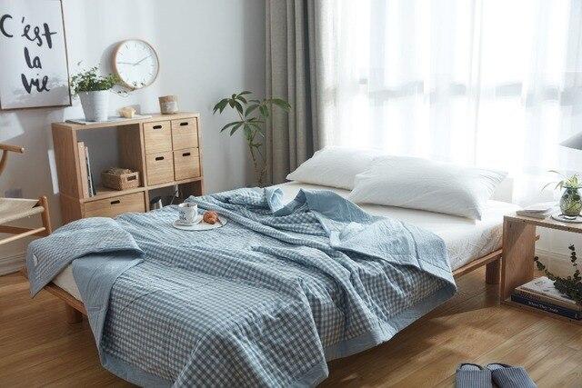 Aliexpress.com : Buy WRMHOM Quality Washed Cotton Light Blue Plaid ... : light summer quilt - Adamdwight.com