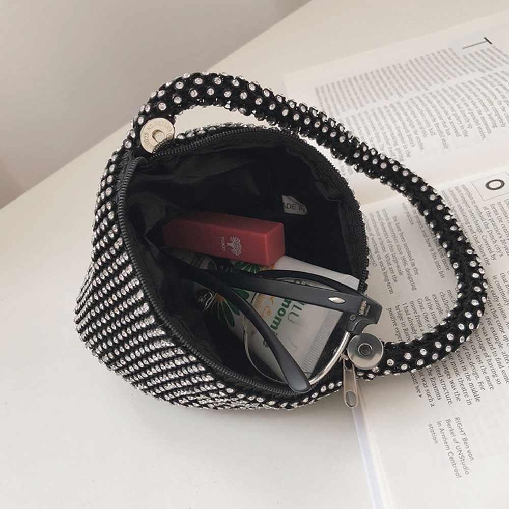 Herald moda do vintage pequenas bolsas femininas de diamante feminino embraiagens sacos de pulso pequena sacola ocasional das senhoras festa à noite saco