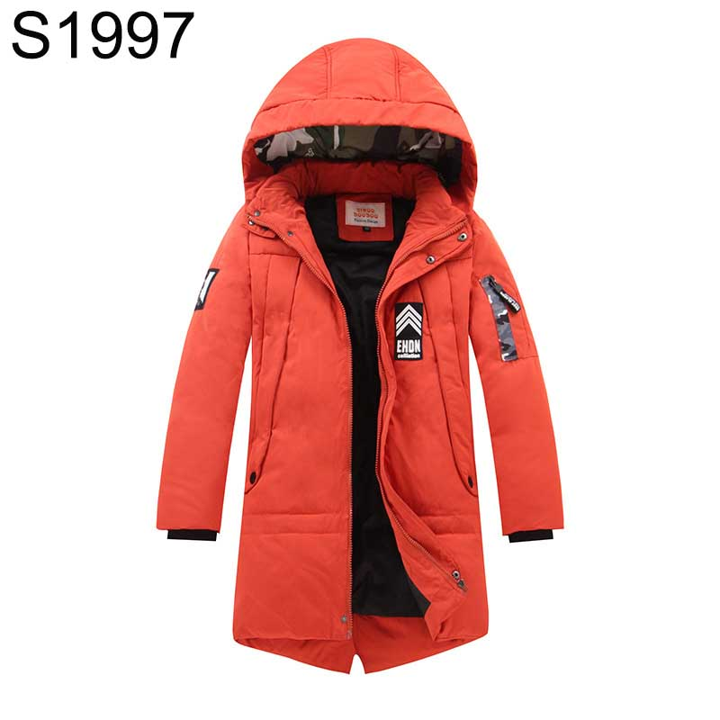 New Winter Boys Down Jacket Toddler Fashion Patchwork Clothes Enfant Kids Hooded Thick Warm Coat Long Sleeve Children Outerwears 2016 fashion boys winter jacket new design thick warm single breasted hooded outwear kids children clothes boys coat for 2 8year