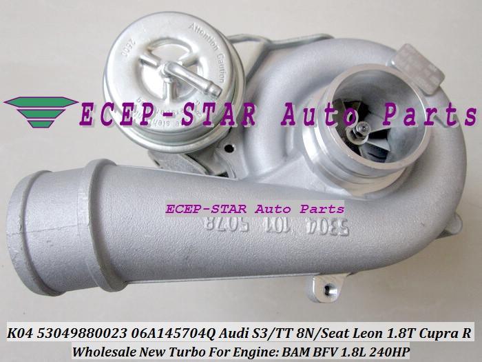 Livraison gratuite K04 53049880023 53049700023 06A145704Q Turbo turbocompresseur pour AUDI TT S3; pour Seat Leon 1.8 T Cupra R BAM BFV 1.8L 2003-