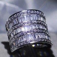 Размеры 5 11 Фирменная Новинка Роскошные ювелирные изделия Принцесса Cut 5A кубического циркония сверкающих Для женщин Свадебная вечеринка гр
