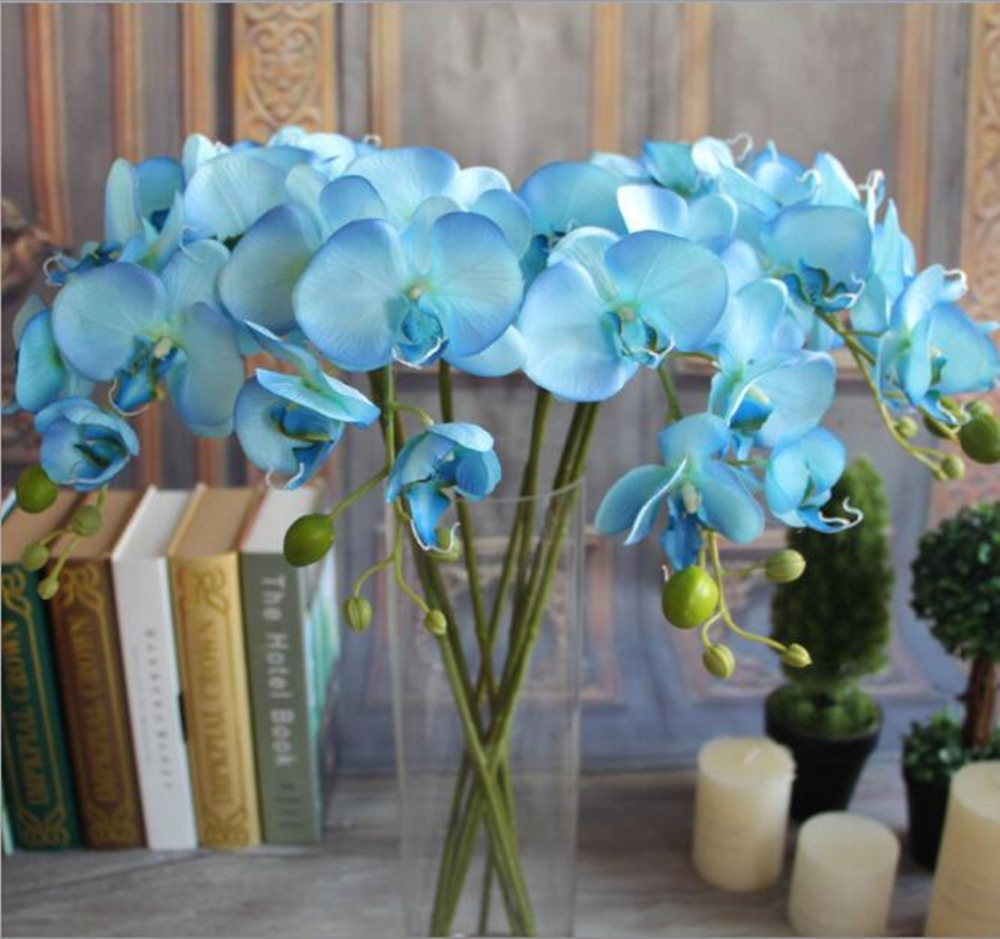 5 lots 8 heads one bouquet artificial phalaenopsis fake flowers moth 5 lots 8 heads one bouquet artificial phalaenopsis fake flowers moth orchid wedding home decoration 4 colors to choose in artificial dried flowers from izmirmasajfo