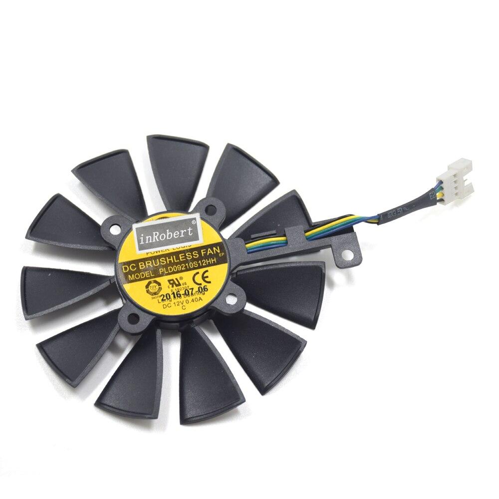 Nueva PLD09210S12HH 87mm ventilador del refrigerador para ASUS ROG STRIX GTX 980Ti 1060 1070 1080 RX580 RX 480 R9 390X390 tarjeta gráfica ventilador de refrigeración
