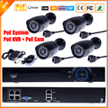 IP Camera Video Security Surveillance System PoE NVR Recorder System Kit Standalone Camera System 4CH PoE NVR CCTV System