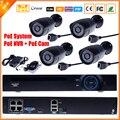 Ip камера видеонаблюдения PoE nvr-рекордер система комплект автономный камеры системы 4CH PoE NVR системы видеонаблюдения