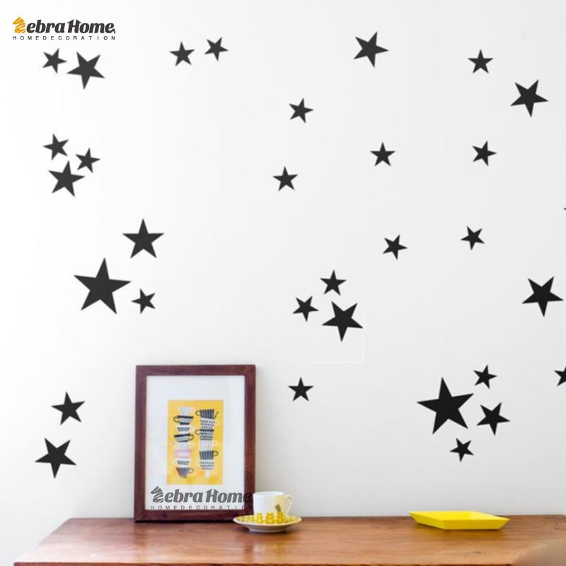 HTB1h.eaMFXXXXXoXpXXq6xXFXXXq - Custom Color Stars Wall Sticker DIY For Kids Rooms