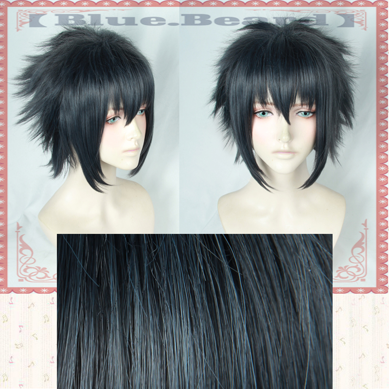 Game Noctis Lucis Caelum Cosplay Wig Final Fantasy XV Costume FF15 XV Anime Wigs Halloween Costumes Hair + Wig Cap