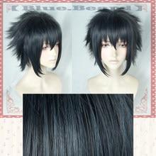 Jogo noctis lucis caelum cosplay peruca final fantasia xv traje ff15 xv anime perucas trajes de halloween cabelo + peruca boné