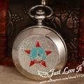 2016 El nuevo reloj de bolsillo mecánico de plata de cadena corta precio bajo de la buena calidad de la vendimia clásica BOLCHEVIQUE Soviética de Rusia de La Vendimia