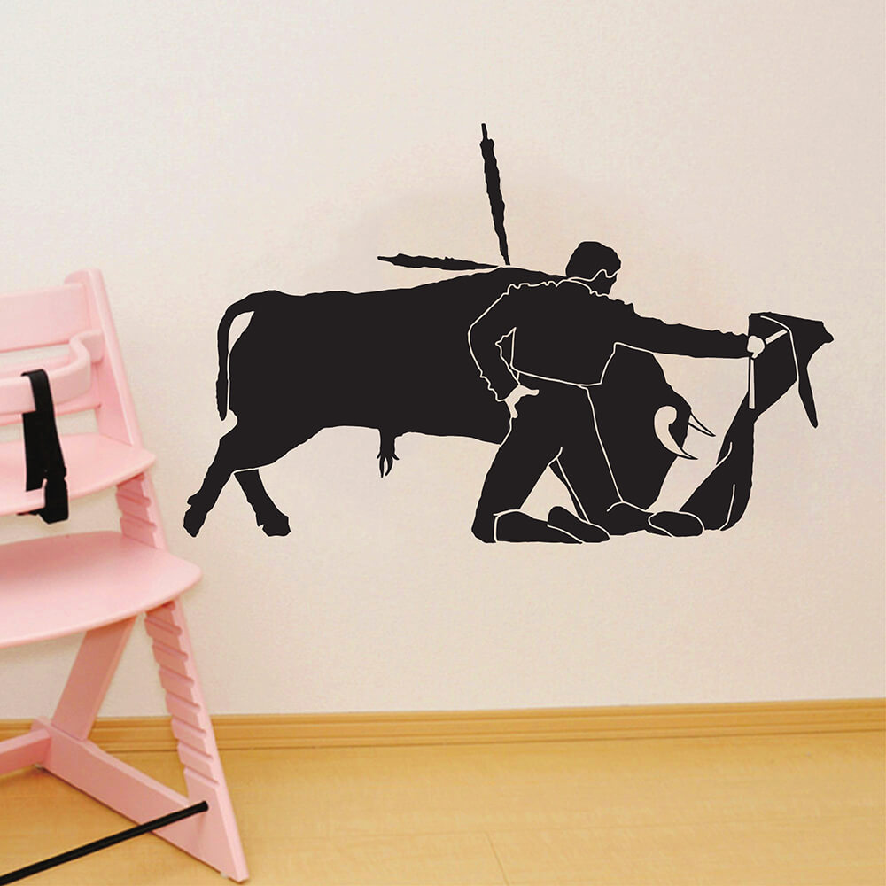 ZUCZUG Modern Wallpaper Sticker Pvc Wall Decals Vintage Home Decor Vinyl Decorative For Tile Walls Decoration Spanish Matador