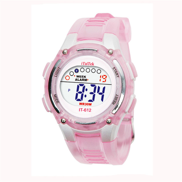 2018 Dignity Colorful Boys Girls Students Time Electronic Digital Waterproof Wri