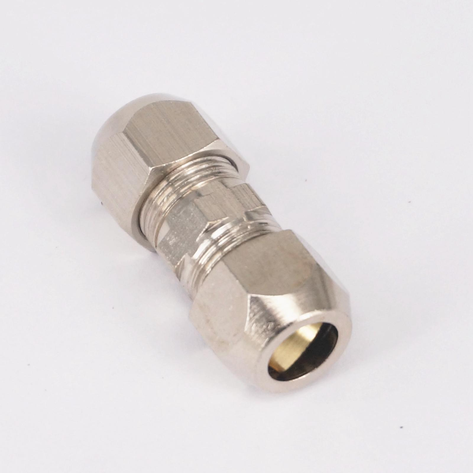 2pcs Straight Brass Fit 8mm OD Tube Coupler Adapter Connector Compression Fitting For Tubing
