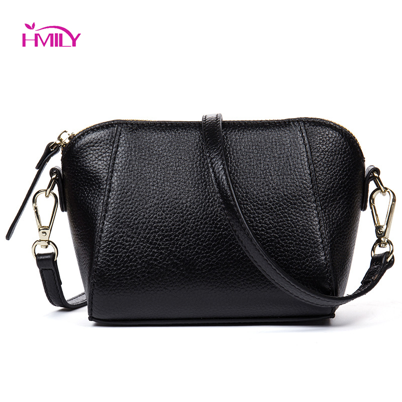 HMILY Fashion Genuine Leather Mini Women Bag Female Messenger Bag Leisure Sweet Shoulder Bag Classic Style Ladies Crossbody Bag hmily genuine leather crossbody bag female diamond lattice messenger bag luxury socialite daily bag chaibs style women bag