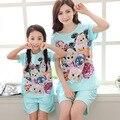 207 новый мать и дочь пижамы девушки мультфильм pijamas дети семьи clothing набор костюм соответствующие мать дочь одежда