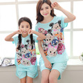 207 nueva madre hija pijamas de las muchachas de la historieta pijamas niños clothing set chándal juego de madre e hija familia ropa