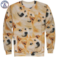 Amy ISWAG 1991INC Newest Style 3D Funny DOGE Hoodies Men S Sweatshirts O Neck Long