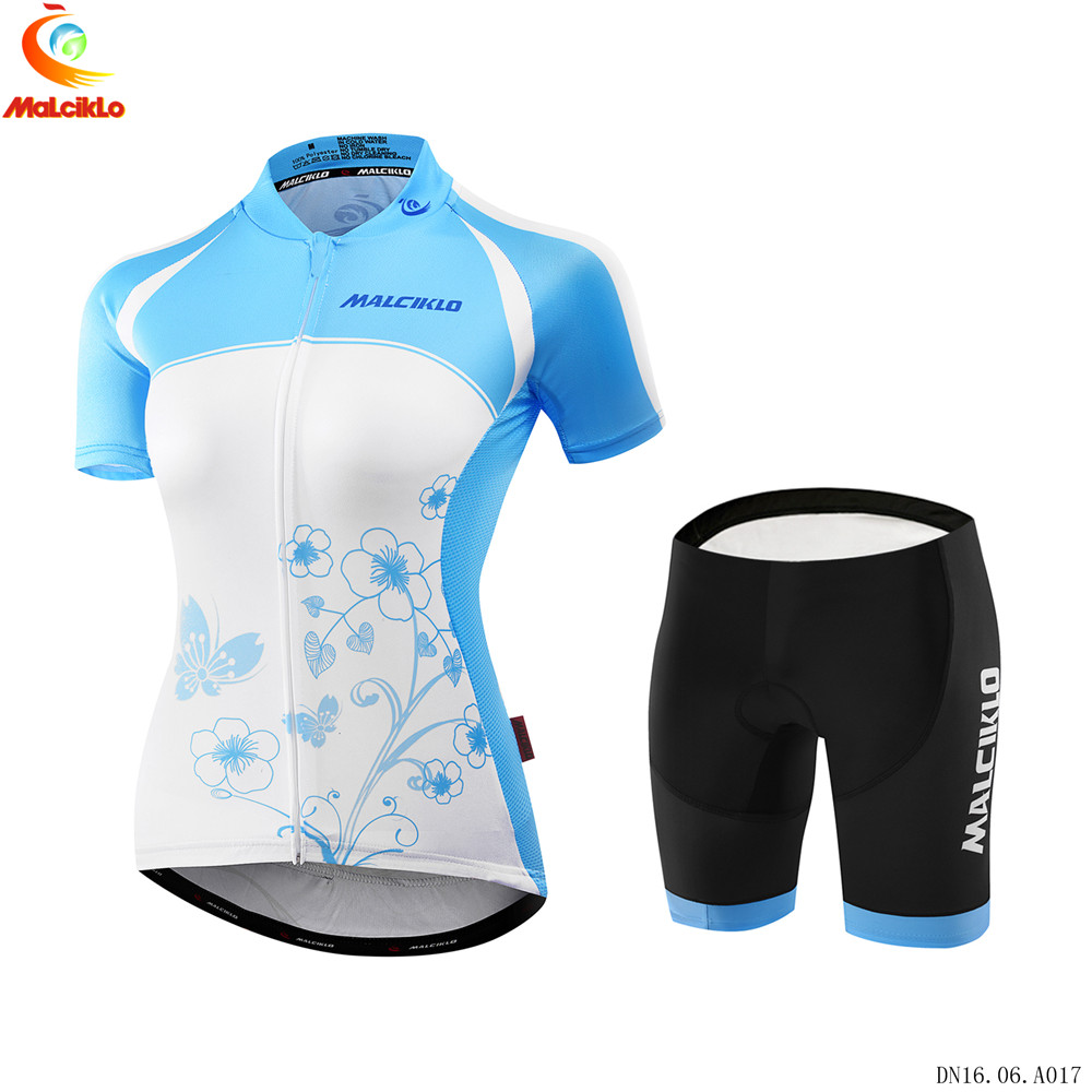 Malciklo Women equipe de france hombre ropa maillot ciclismo summer mountain bike clothing lady cycling team jersey set