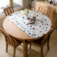 1mm/1.5mm thick waterproof plastic table cloth pvc tablecloths round flower printed table covers dining table protectors pads