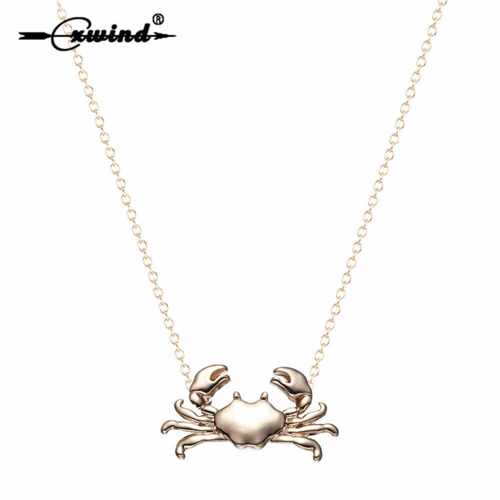 Cxwind 12 Constellation Cancer Zodiac Necklace & Pendant Fashion Ocean Maryland Crab Pendants Necklaces for Women Girls Jewelry