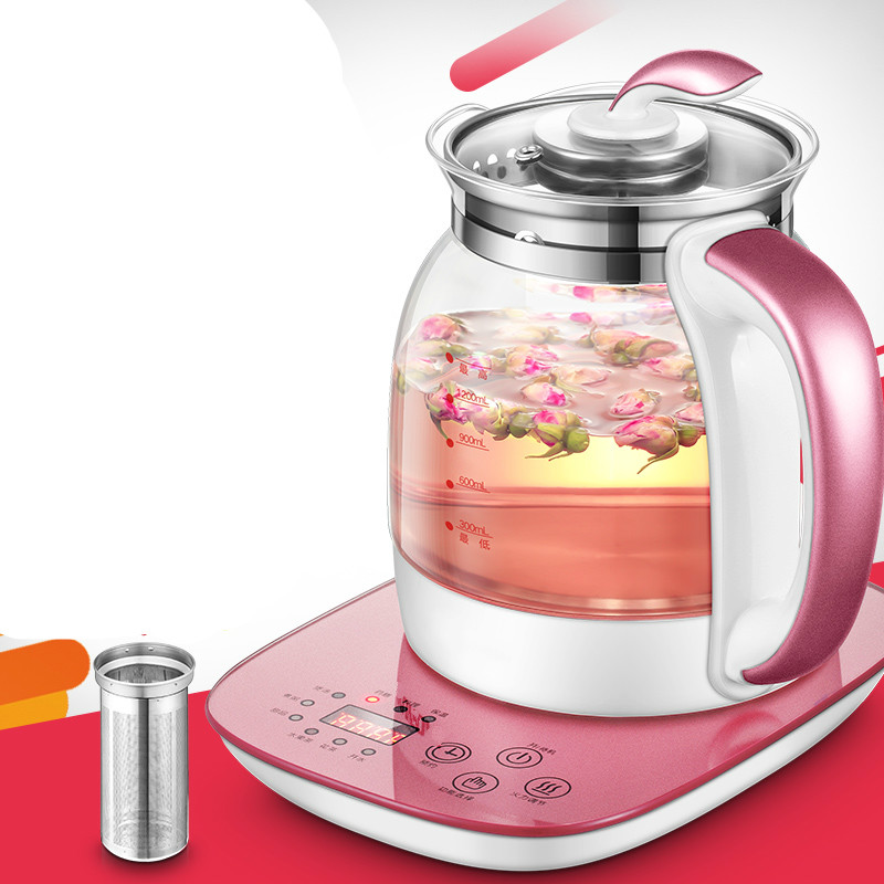 Electric kettle  automatic and thickened glass multi-function multi-functional cooking teapot flower teapo Overheat ProtectionElectric kettle  automatic and thickened glass multi-function multi-functional cooking teapot flower teapo Overheat Protection